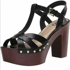 GBG Jinnie platform heels black size 8